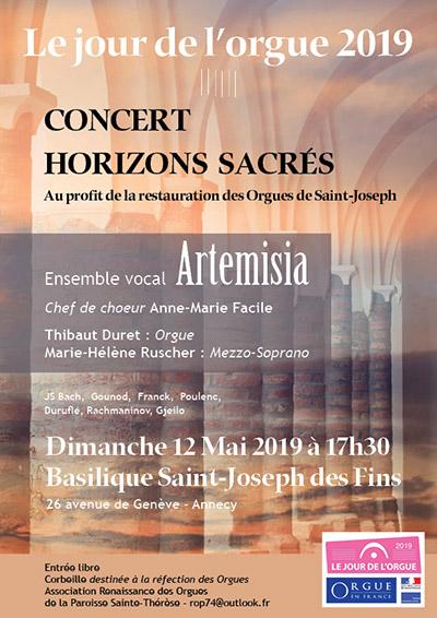 Concert Horizons Sacrés, Annecy mai 2019