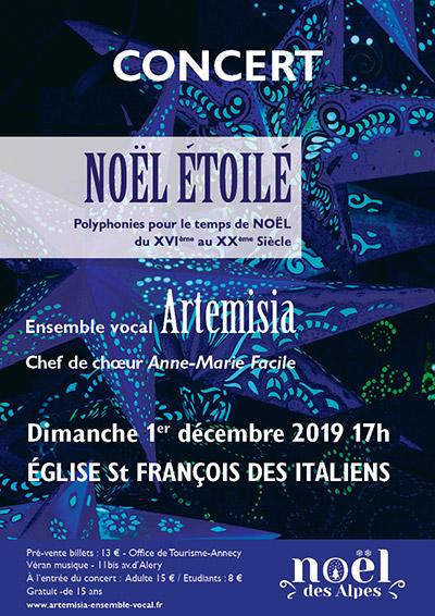 Noël étoilé à Annecy - Dimanche 1er Décembre 2019