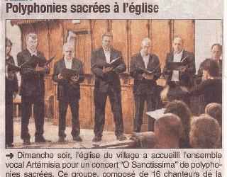 Polyphonies sacrées à l'église, Alex