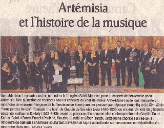 Musique Française du XVIème au XXème siècle, Thônes